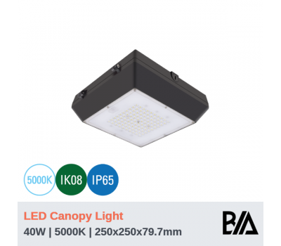 BOXY - 40W | LED Canopy Light | 5000K