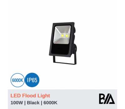 CASTLE - 100W | LED Flood Light | Black | 6000K