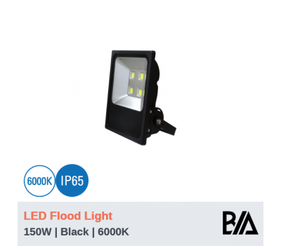 CASTLE - 150W | LED Flood Light | Black | 6000K