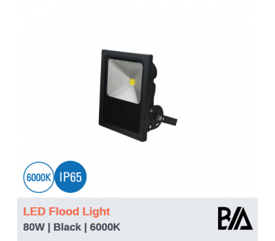 CASTLE - 80W | LED Flood Light | Black | 6000K