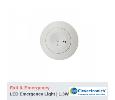 Emergency Light - 1.3W | Exit & Emergency | Recessed