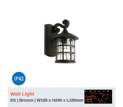 COVENTRY - 1Lt | Wall Light | ES Globe (Not Included)