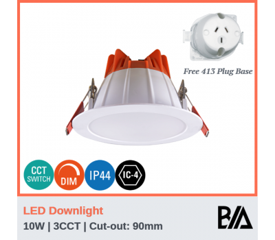 DELTA - 10W | LED Downlight | 3CCT