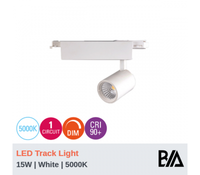 FERO - 15W | LED Track Light | 1 Circuit | White | 5000K