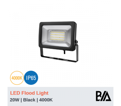 FORT - 20W | LED Flood Light | Black | 4000K