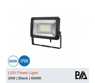 FORT - 20W | LED Flood Light | Black | 6000K