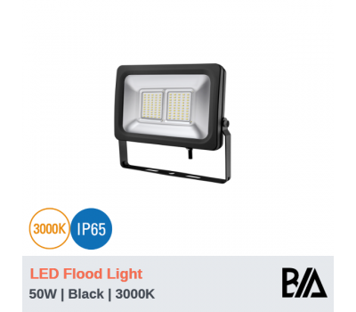 FORT - 50W | LED Flood Light | Black | 3000K