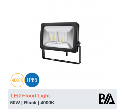FORT - 50W | LED Flood Light | Black | 4000K