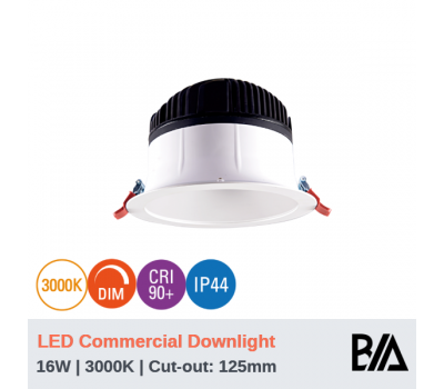 HAWK - 16W | LED Commercial Downlight | 3000K