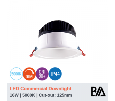 HAWK - 16W | LED Commercial Downlight | 5000K