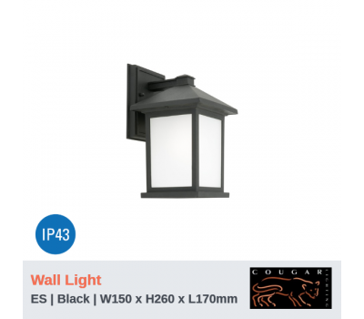 PLYMOUTH - 1Lt | Wall Light | Black | ES Globe (Not Included)
