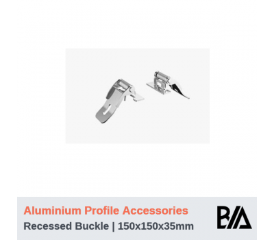 Recessed Buckle (Butterfly Clips) - PR5535   Aluminium Profile Accessories   1 Pair