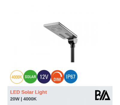 RAY - 20W | LED Solar Light | 4000K