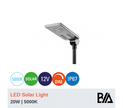 RAY - 20W | LED Solar Light | 5000K