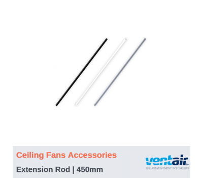 Extension Rods for SPYDA Ceiling Fans - 450mm