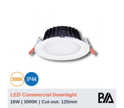 THOR - 16W | LED Commercial Downlight | 3000K (CLEARANCE)