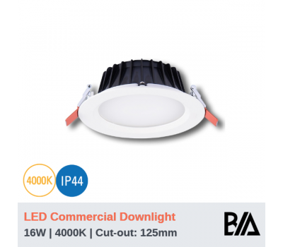 THOR - 16W | LED Commercial Downlight | 4000K (CLEARANCE)