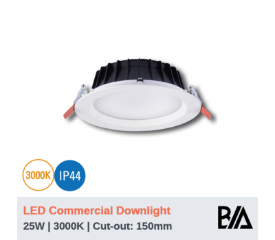 THOR - 25W | LED Commercial Downlight | 3000K (CLEARANCE)