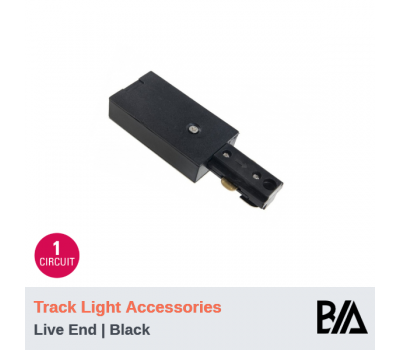 Live End - Black | Track Light Accessories | 1 Circuit