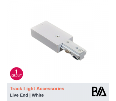 Live End - White | Track Light Accessories | 1 Circuit