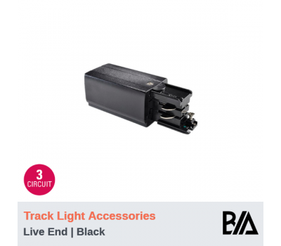 Live End - Black | Track Light Accessories | 3 Circuit