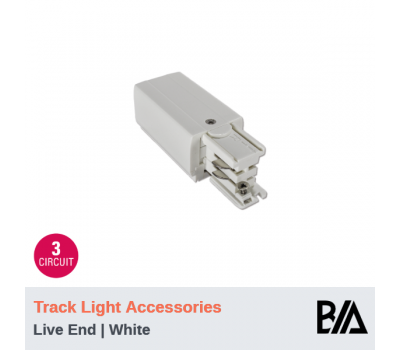 Live End - White | Track Light Accessories | 3 Circuit