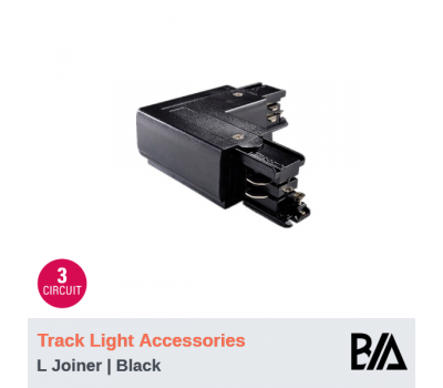 L Joiner - Black | Track Light Accessories | 3 Circuit