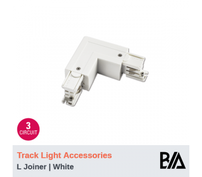 L Joiner - White | Track Light Accessories | 3 Circuit