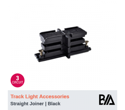 Mini Joiner - Black | Track Light Accessories | 3 Circuit