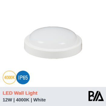 PEARL - 12W | LED Wall Light | White | 4000K