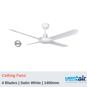 "SPYDA - 4 Blades | Ceiling Fans | Satin White | 1400mm (56"")"