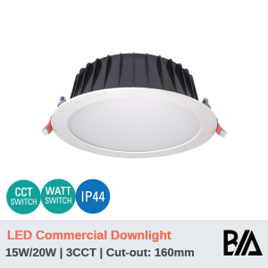 THOR PLUS - 15W/20W | LED Commercial Downlight | 3CCT