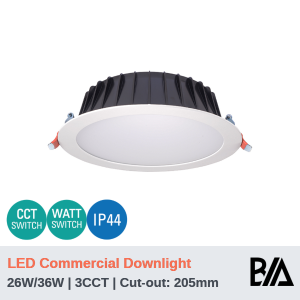 THOR PLUS - 26W/36W | LED Commercial Downlight | 3CCT